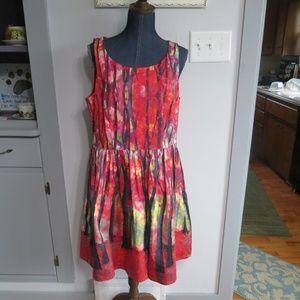 Modcloth Beautiful Tree Print Dress Size 1X